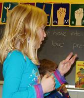 Afterschool ASL class